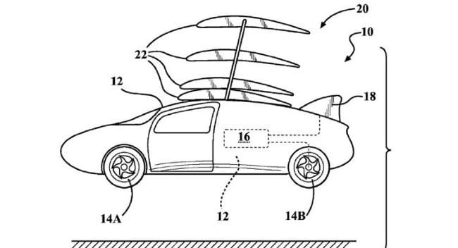 toyota patente coche volador