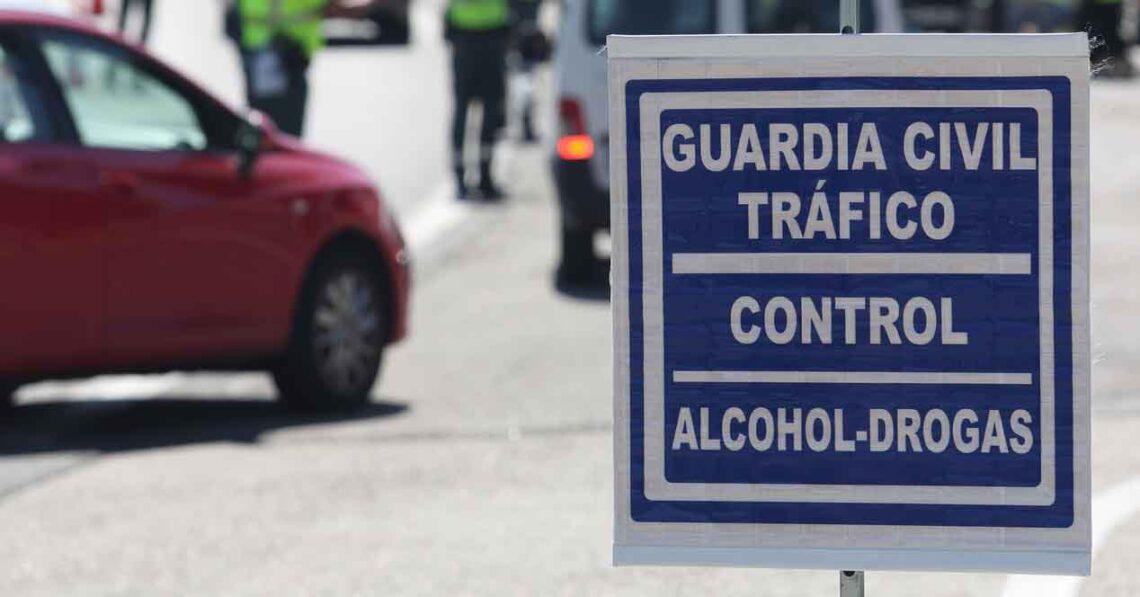 control guardia civil de tráfico