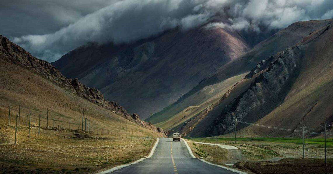 carretera tormenta