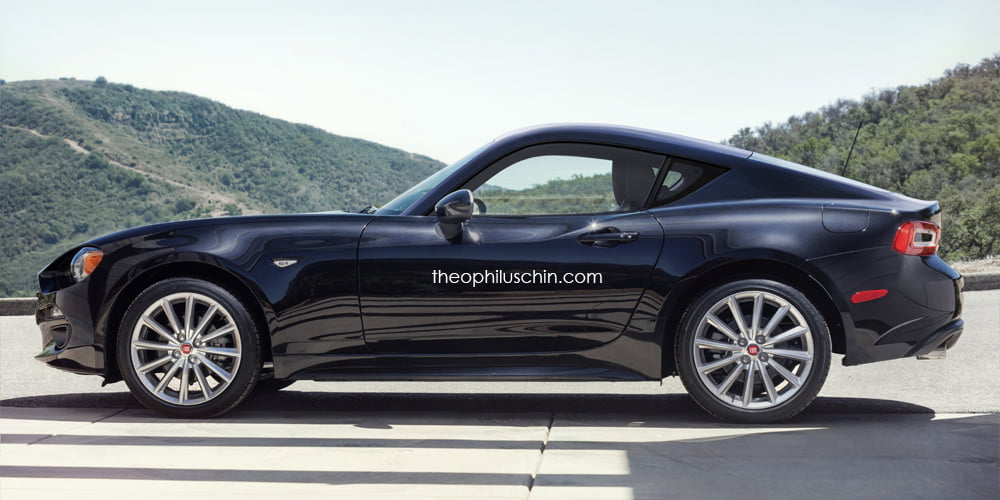 fiat 124 coupe lateral