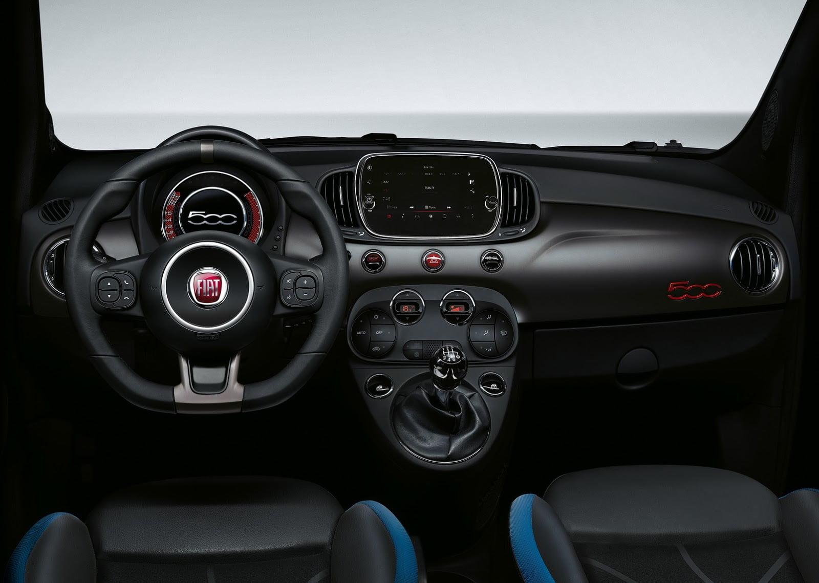 fiat 500s 2016 interior