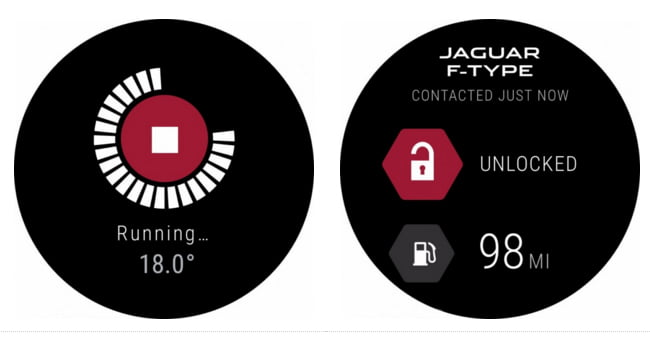 jaguar f type android wear