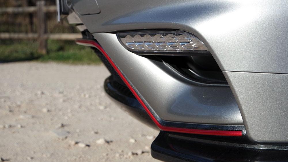 Nissan Juke Nismo RS detalle paragolpes