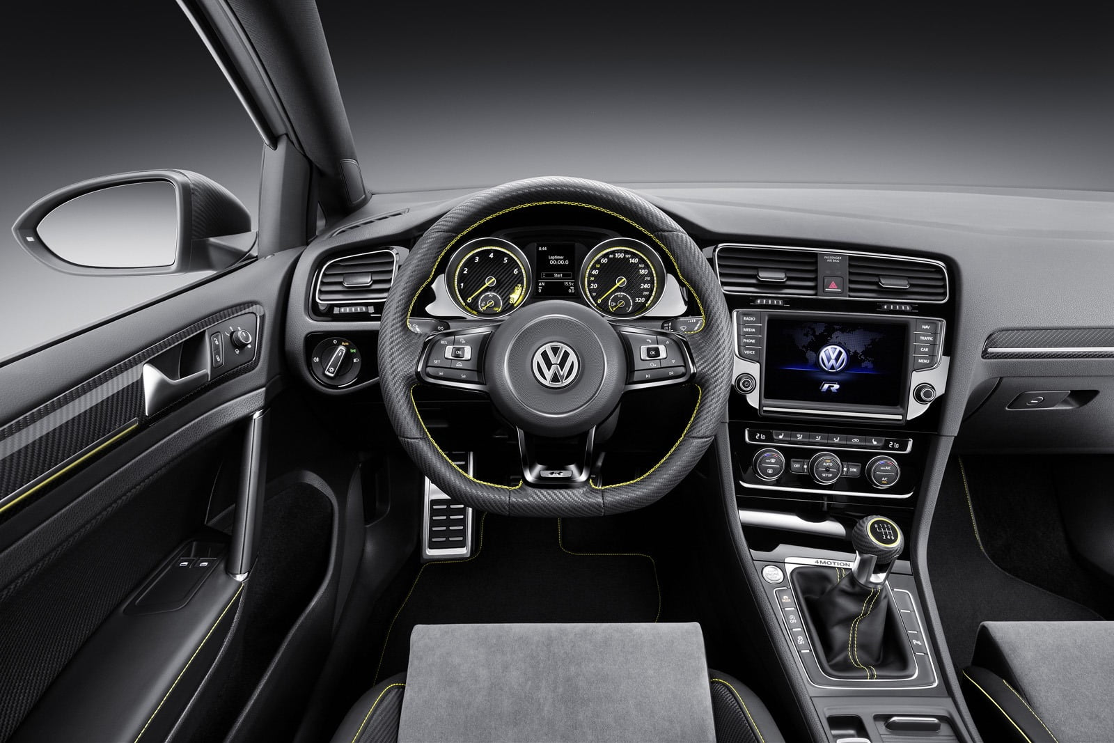 volkswagen golf r400 interior