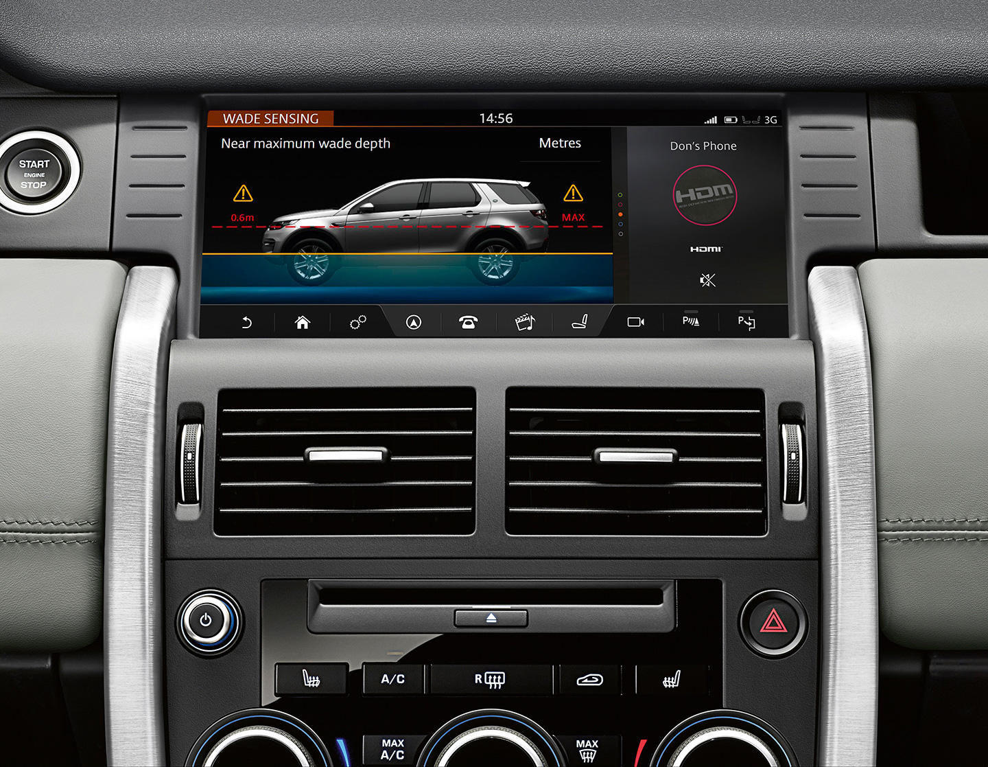 land rover discovery sport 2017 consola