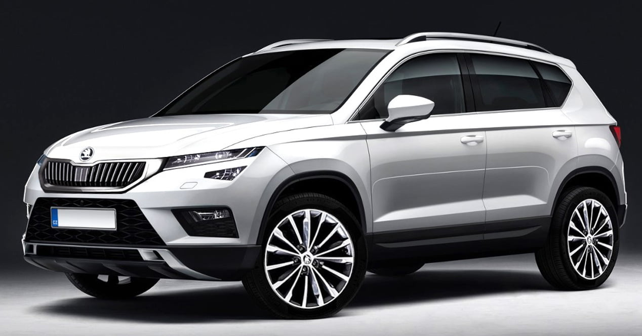 skoda kodiak suv 2017 frontal
