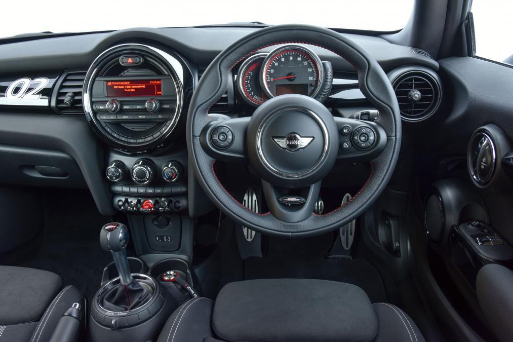 mini john cooper works challenge interior