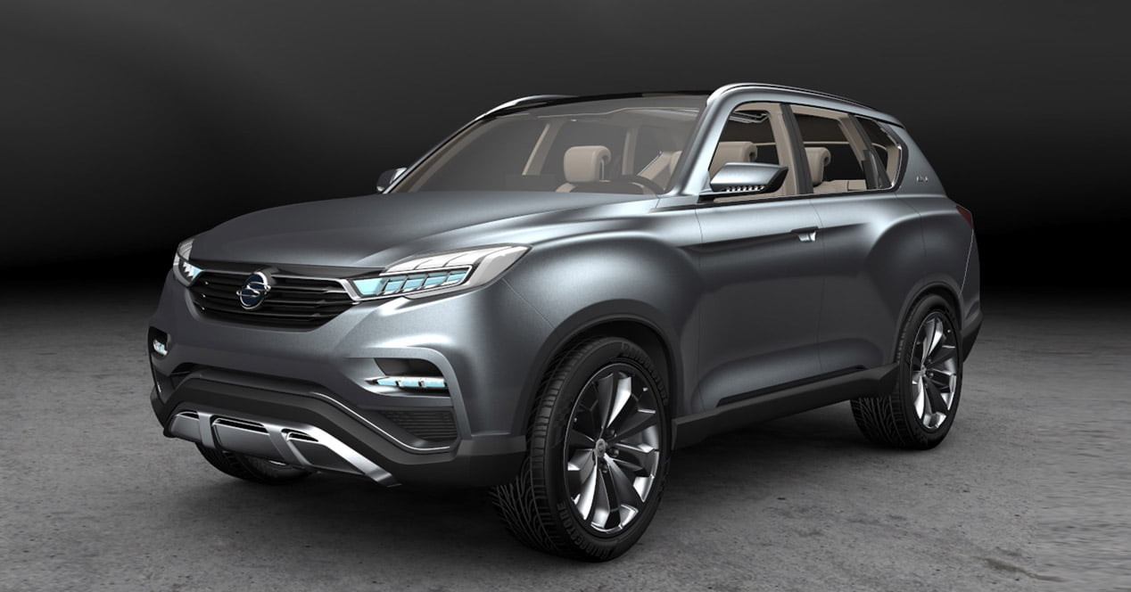 ssangyong liv 1 concept frontal