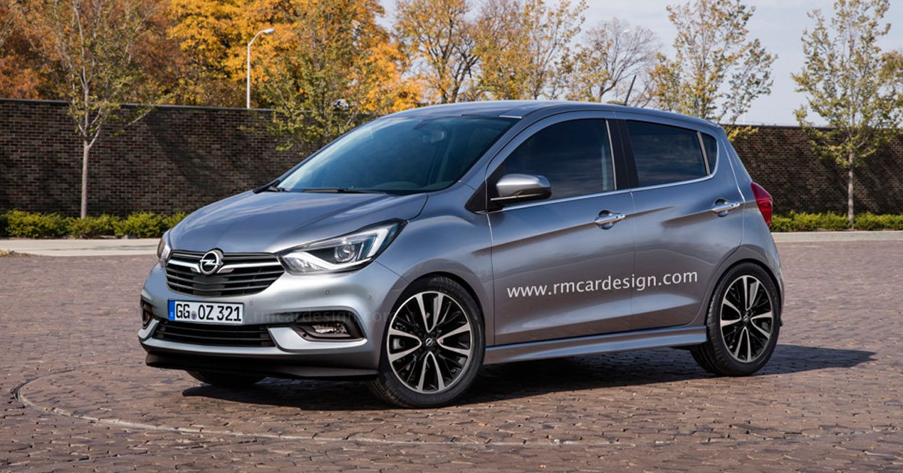 opel karl 2017 render frontal