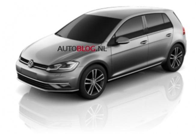 volkswagen golf 2017 frontal
