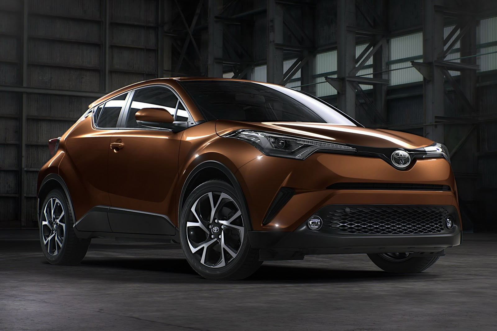 toyota c-hr en color marron
