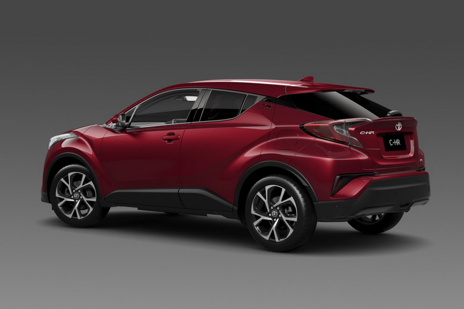 toyota c-hr en color granate