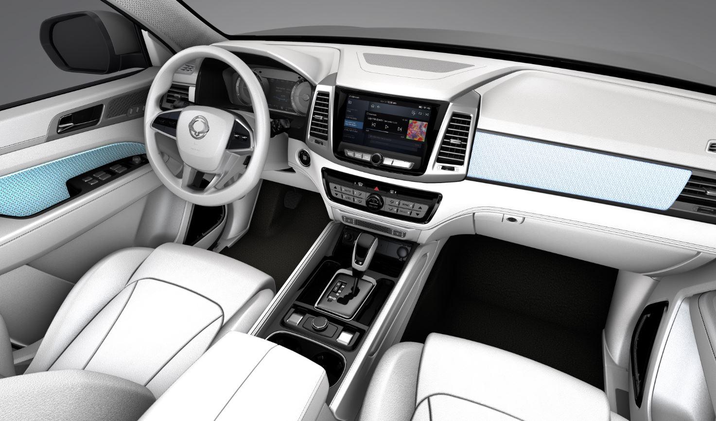 interior ssangyong rexton 2017 concept