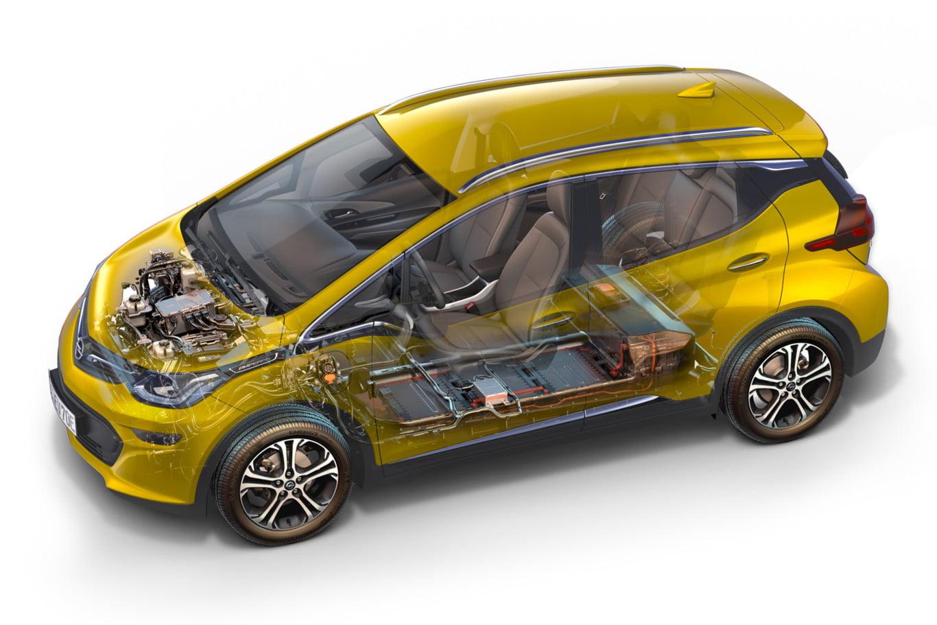 motor y bateria electrica del opel ampera-e