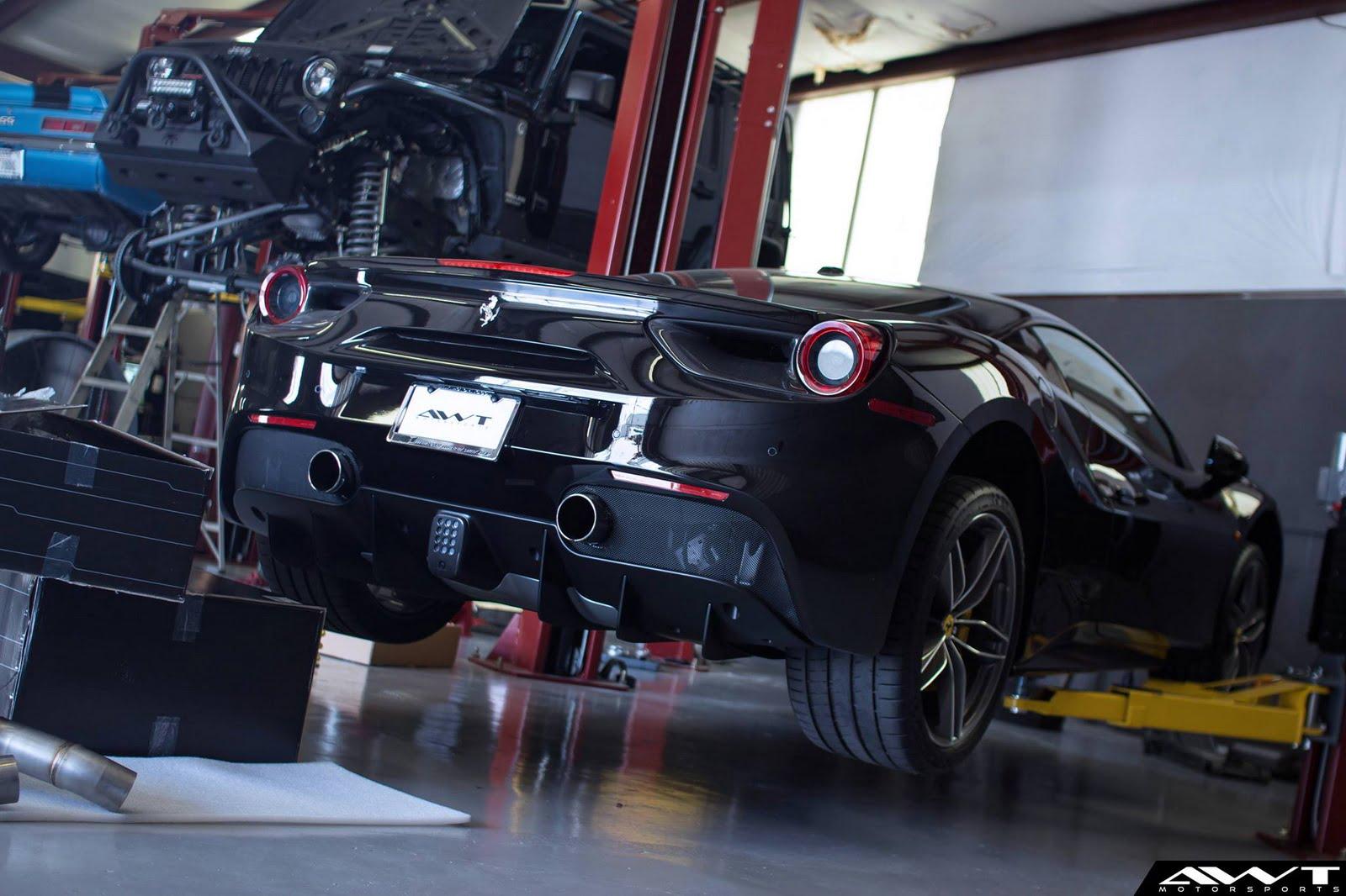 preparacion del ferrari 488 gtb por awt motorsports