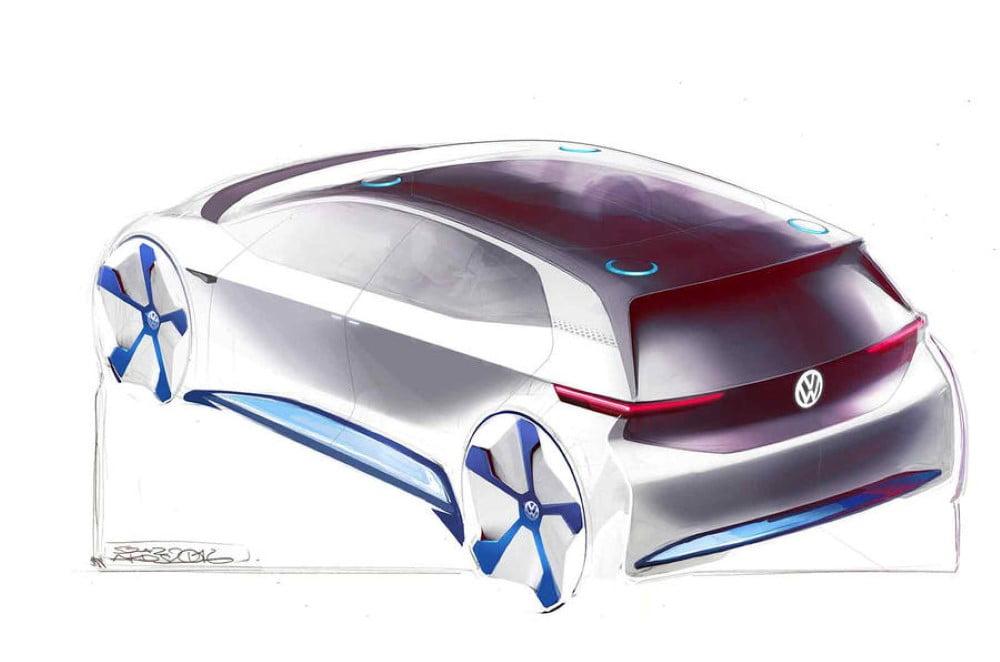 boceto coche electrico volkswagen