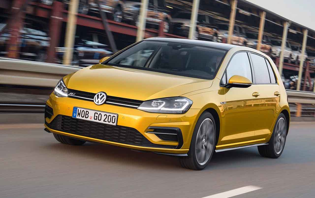 frontal del volkswagen golf 2017
