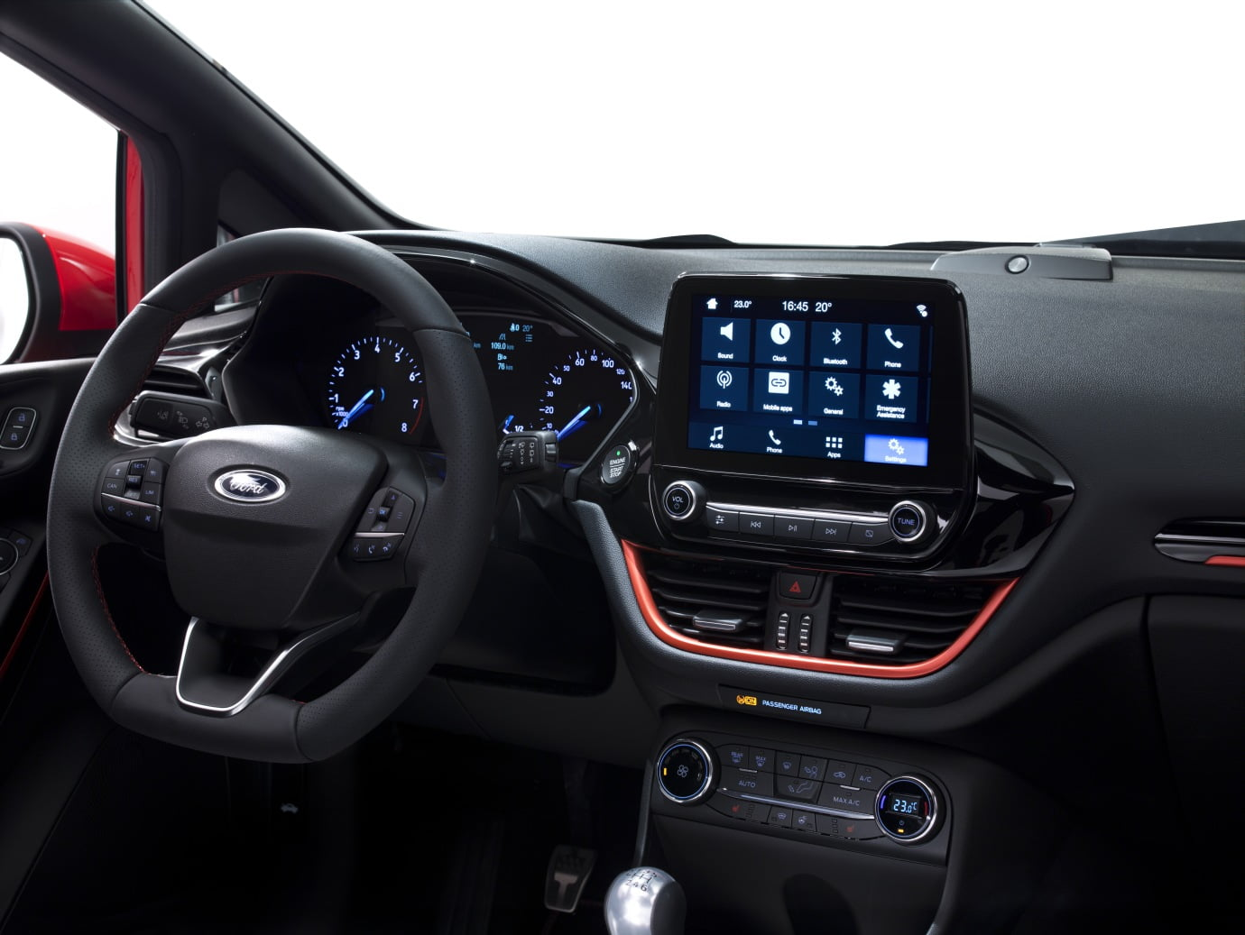 interior del ford fiesta 2017