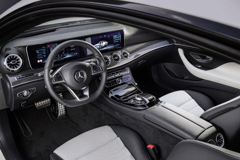 interior del mercedes clase e coupe 2017