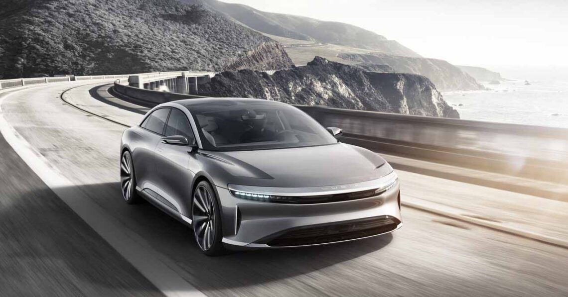 lucid air concept frontal