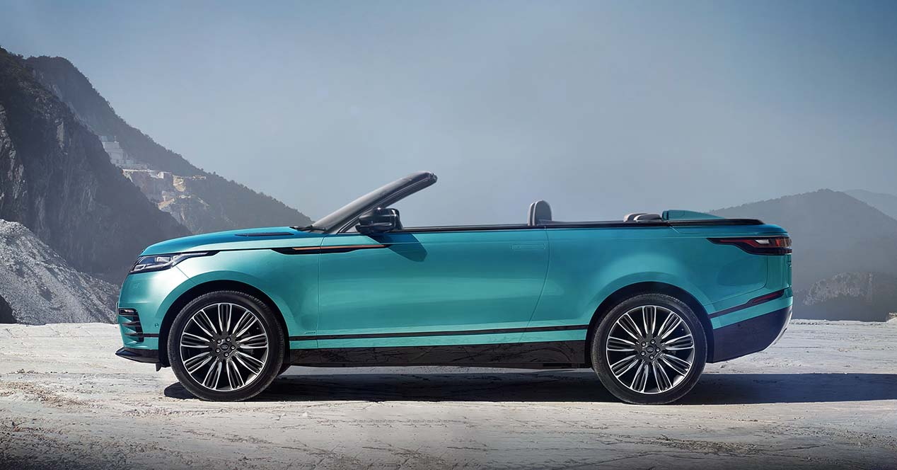 range rover velar cabrio te lo comprar as en versi n descapotable. Black Bedroom Furniture Sets. Home Design Ideas