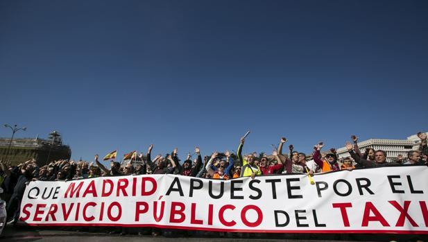 manifestacion taxistas madrid