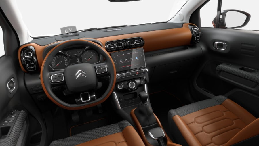 interior del citroen c3 aircross