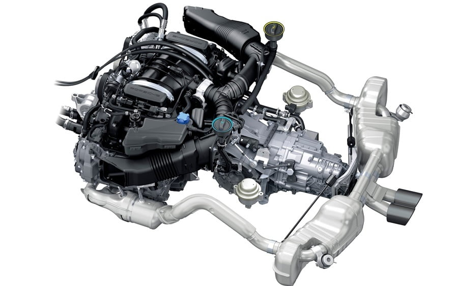 Motor Porsche GT3